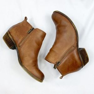 Lucky Brand Leather Basel Ankle Booties
